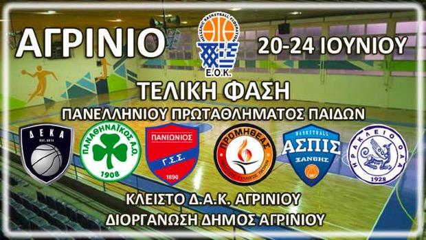 Ξεκινά το 45ο Πανελλήνιο Πρωτάθλημα Παίδων στο μπάσκετ (Live Streaming)