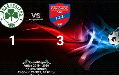 Νίκη για την Κ12 με 1-3 τον Παναθηναϊκό