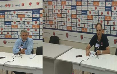 Η συνέντευξη τύπου των δύο προπονητών μετά το παιχνίδι (Vid)